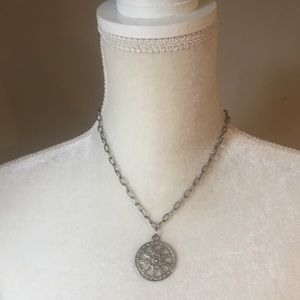 4 for $12: Silver Tone Medallion Necklace